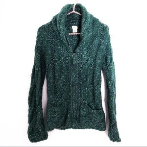 ANTHROPOLOGIE|Sleeping On Snow Cable Knit Cardigan